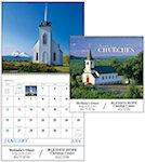 Scenic Churches Spiral Wall Calendars